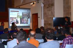 Javier Purroy, técnico de SEO/Birdlife, en el seminario informativo del proyecto LIFE+ Urogallo cantábrico