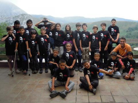 Participantes del taller que SEO/Birdlife impartió en la localidad lebaniega de Cabañes (Cantabria)